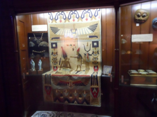 Egyptian artifacts from the tour