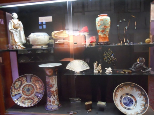 Asian artifacts and souvenirs.