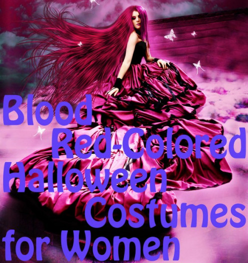Blood Red-Colored Halloween Costumes For Women