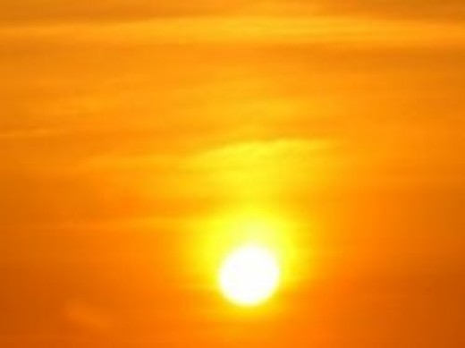 Sizzling hot sunlight