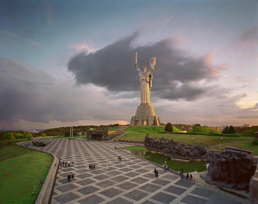 Motherland Statue at the Museum of the Great Patriotic War in Kiev.  Photo by Marianivka and distributed under GNU Free Documentation License Version 1.2.
