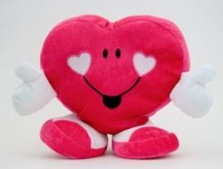 An odd Valentine's day plush novelty