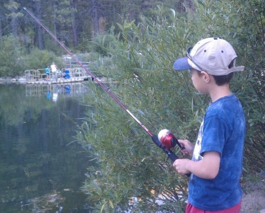 Fishing at Marilyn's Pond