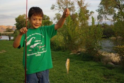 Robert's first fish