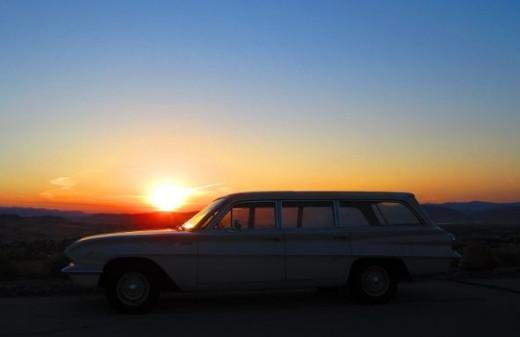 My Buick wagon at dawn