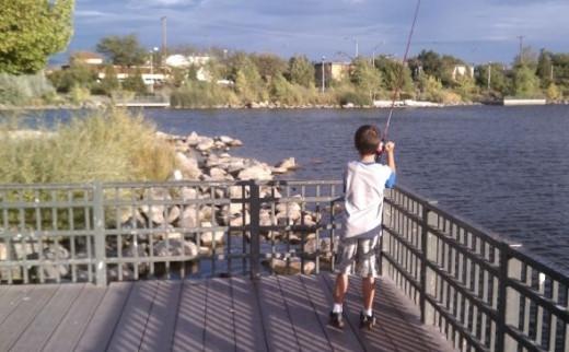 Fishing at Paradise Park