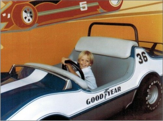 It was at either Disney or Universal Studios. My mom doesn't remember. But I sure loved feeling that steering wheel in my hands.