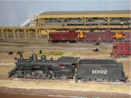 Santa Fe 2-6-2 Brass Locomotive (HO Scale)