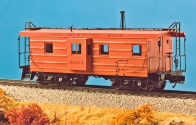 Milwaukee Road Brass Caboose (S Scale)