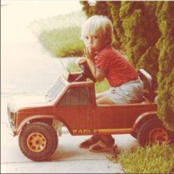 My birthday gift pedal car