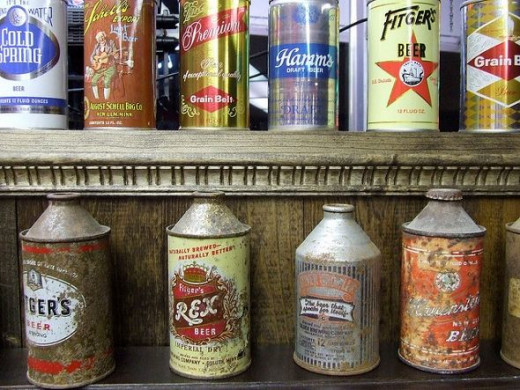 old beer can collection