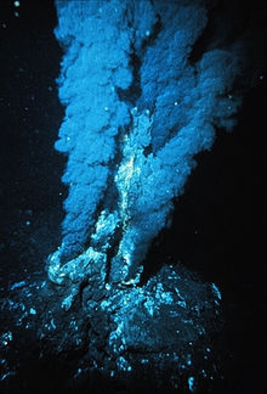 A black smoker in the Atlantic Ocean. Driven by geothermal energy