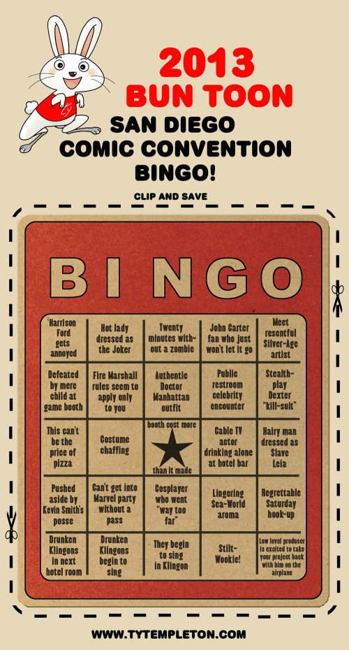 Comic Convention Bingo