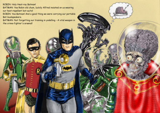 Batman 66 vs. Mars Attacks by Nick Perks