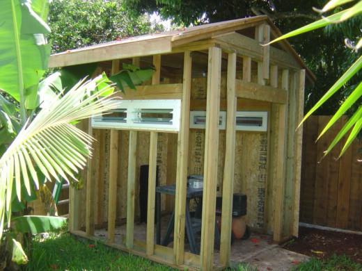 Habitat ReStore Windows in Storage Shed
