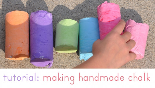 DIY Gifts Sidewalk Chalk Tutorial