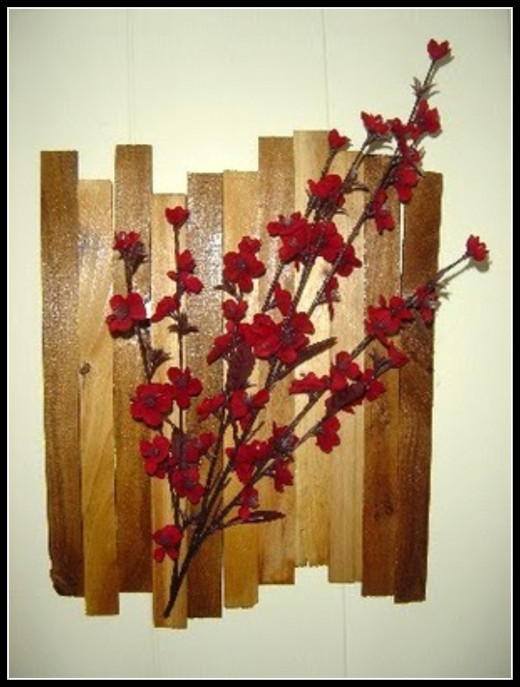 Wood Shims Wall Art