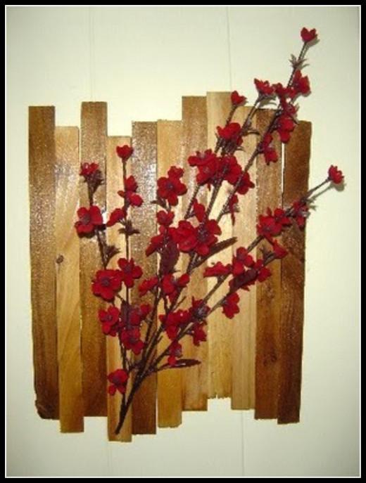 Wood Shims Wall Art