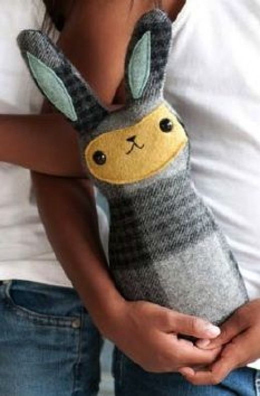 Make a Bunny from Repurposed Scarves