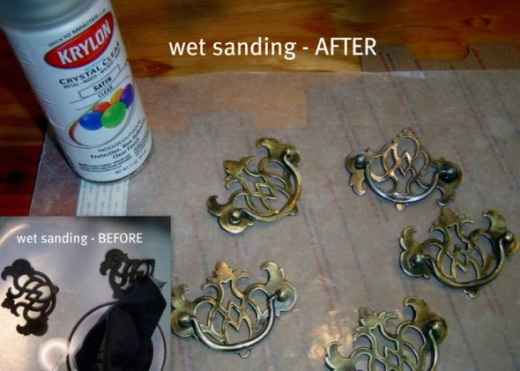 Wet Sanding Furniture Hardware