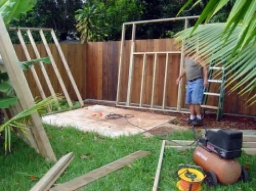 Positioning the Shed Walls