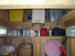 DIY Shelves Inside Shed