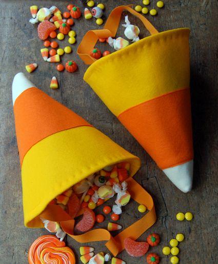 Candy Corn Bag DIY Trick or Treat Bags