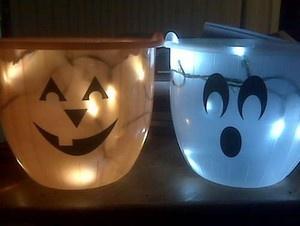 Glow In Dark DIY Trick or Treat Bags