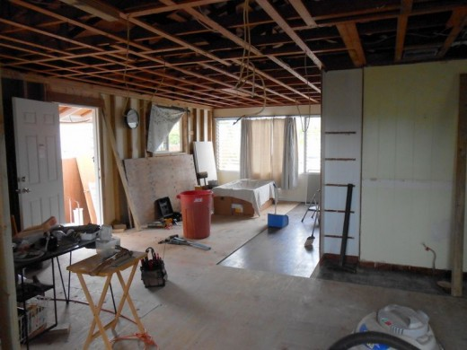 Overview of interior during renovation.