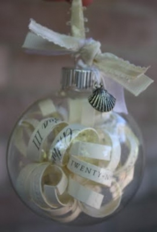 Wedding Invitation Christmas Ornament Idea