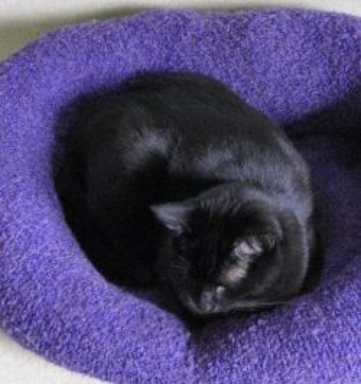 DIY Recycled Sweater Cat Bed via Pet Project