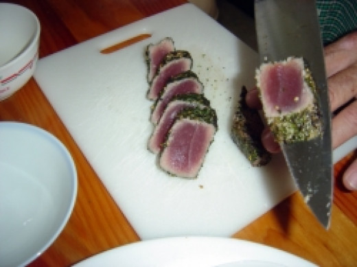 Seared Ahi Tuna - Sliced