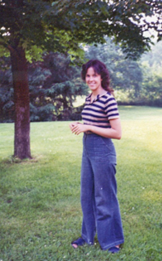 Me in High School. I remember those pants.