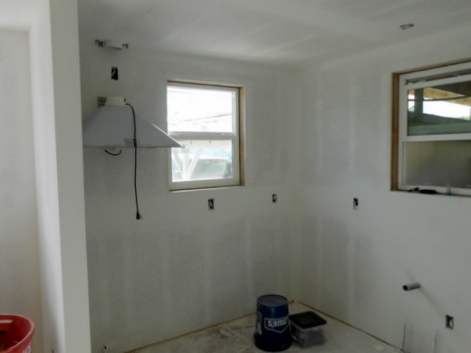 Drywall finished - Kitchen.