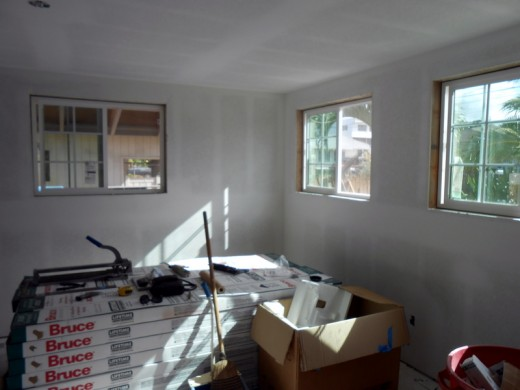 Drywall finished - Living Room