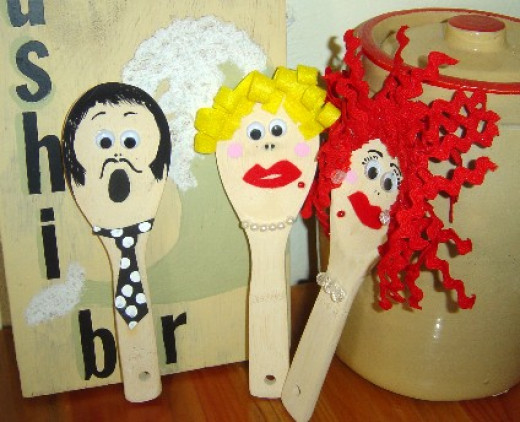 Rice Paddle Puppets