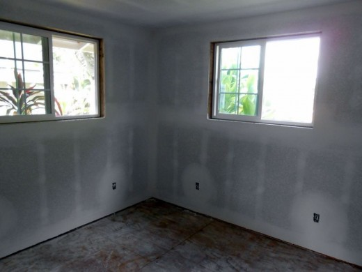 Drywall finished - First Bedroom