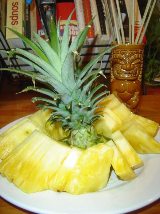 Serve fresh pineapple