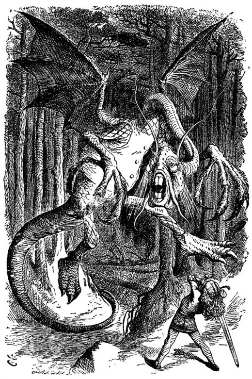 The Jabberwock from Alice in Wonderland.