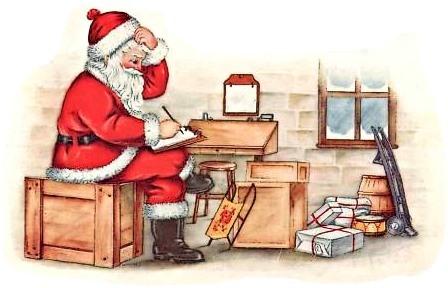 Santa's Inventory - Circa 1916