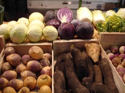 Veggies at Fontainebleau's Market