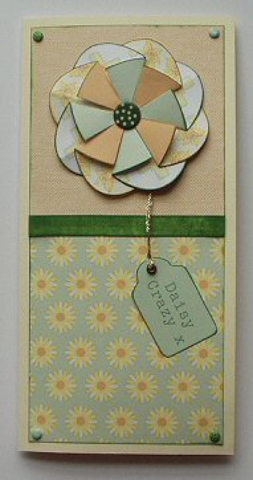 Folded flower handmade card