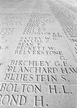 Names of the Missing on the Pillars