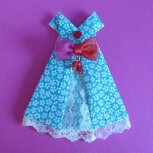 Easy Origami Dresses To Fold
