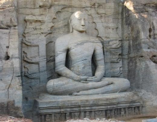 Statue of Lord Buddha in Polonnaruwa gal viharaya
