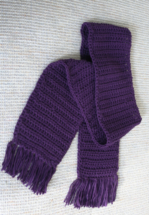 Purple Crochet woman's scarf