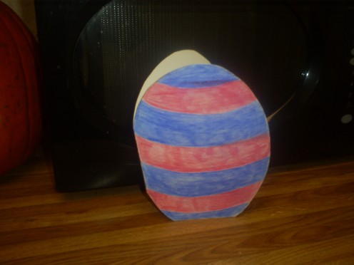 Use colored pencils to bring the egg to life.