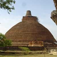 Abhayagiriya Dagoba in Anuradhapura