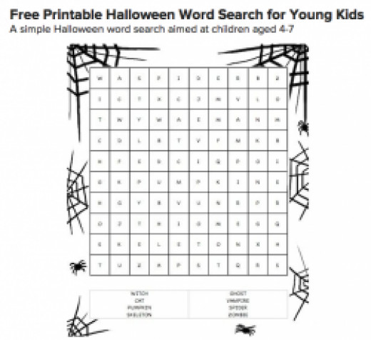 Free Printable Halloween Word Searches
