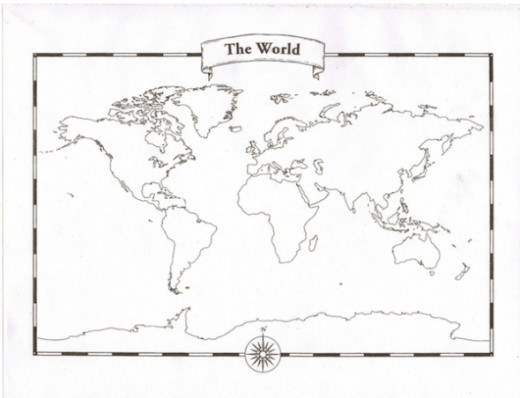 Looking for a blank world map free printable world maps to use in blank world map pad blank world maps on sulphur paper your children can tear off colour and label sciox Image collections